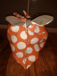 sac-a-noeuds-orange-a-pois-blanc-3